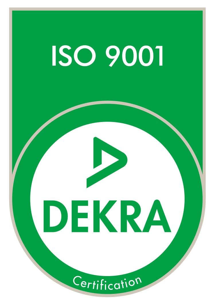 Certification ISO 9001- Dekra